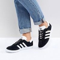 adidas Originals Black Suede Gazelle Sneakers at asos.com