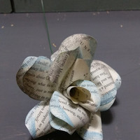 Ravenclaw Harry Potter House Book Page Paper Rose Flowers - bouquet, hogwarts houses, wedding flowers, upcycle