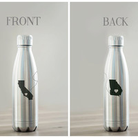 Custom Long Distance Relationship Stainless Steel Vacuum Sealed Water Bottle/ Vacuum Flask - 17 ounce