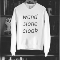 Wand. Stone. Cloak. Sweater (a Deathly Hallows Sweater) - LIMITED
