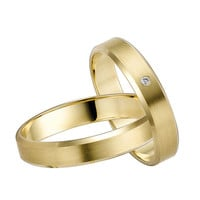 14 K Gold Diamond Wedding Set