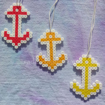 Anchor Kandi Necklace - Perler Bead Jewelry