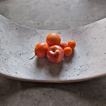 Curved Concrete Fruit Bowl or Tray