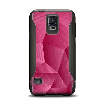 The Pink Geometric Pattern Samsung Galaxy S5 Otterbox Commuter Case Skin Set