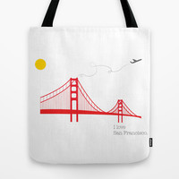 San Francisco.  Tote Bag by Irmak Berktas