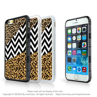 tiger skin iphone 6 case,Leopard print iphone 6 plus case,Leopard print and chevron,black chevron 6 case,6 plus case,Christmas gift