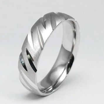 Wedding Band - Road Rail Wedding Ring