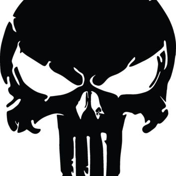 The Punisher Skull, Distressed Vinyl Graphic Decal