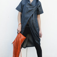 NEW COLLECTION S/S 15! Real Leather Clutch/ Fringed Clutch/ Orange Bag