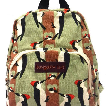 Bungalow360 Kids Mini Backpack (Woodpecker) Bird Lovers!