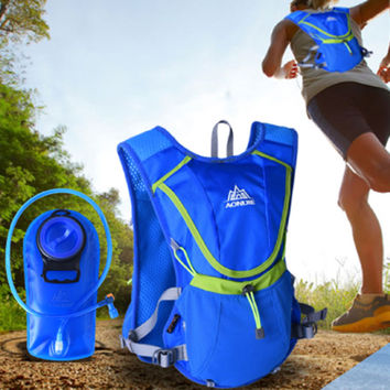 2016 New Motorcycle Lightweight Running Backpack Outdoor Sports Marathon Cycling Hiking Bag With Optional 2L Hydration Water Bag