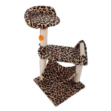 Stable Sisal Cat Furniture Climber Tower Tree Leopard Print 32 inch
