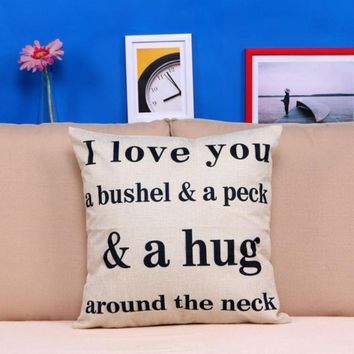 Drop shipping I Love You A Bushel And A Peck Bed Home Decor Pillow Case sleeping Cushion