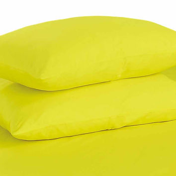 Tache Yellow Cotton Pillowcase