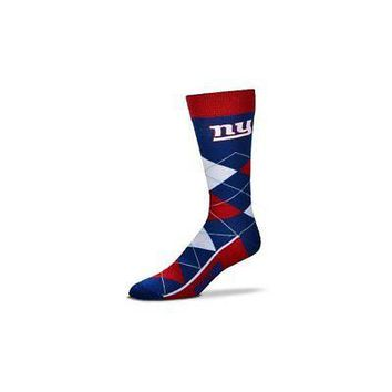 NFL New York Giants Argyle Unisex Crew Cut Socks - One Size Fits Most