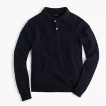 Lambswool long-sleeve polo sweater : | J.Crew
