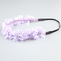 Full Tilt Chiffon Flower Headband Lavender One Size For Women 21998776301