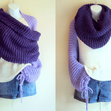 Knit Tube Scarf Shawl Cowl Bolero Shrug Capelet Poncho Neckwarmer Women Clothing Winter Fashion Gift Ideas Can be MADE TO ORDER