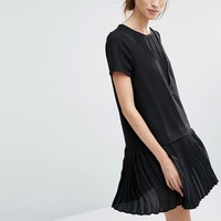 Vero Moda Pleated Drop Waist Dress at asos.com
