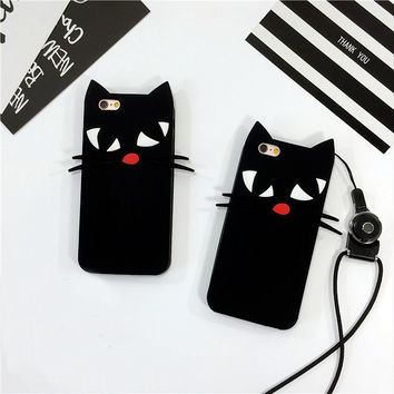 Black Cat cover for iPhone 7 Plus