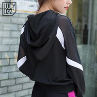 Breathable Patchwork Yoga Top 2017 Sportswear Women T Shirt Sport Suit Zipper Running Shirt Gym Fitness Clothing Sports Jacket
