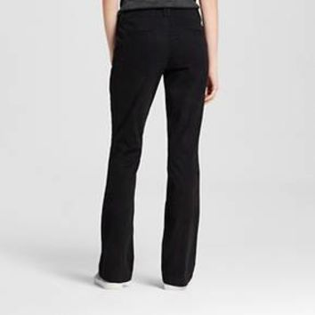 Women's Bootcut Chino Pants - Mossimo Supply Co.™ Black 6