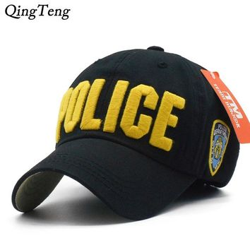 Trendy Winter Jacket Hot Children Police Baseball Cap Kids Boys Girls Snapback Hats Casual Cotton Letter Sports Caps Adjustable Hip Hop Sun Caps AT_92_12