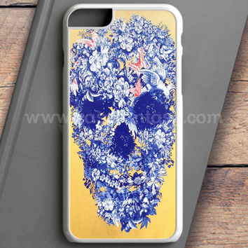 Floral Skull Wall Decal iPhone 6 Plus Case | casefantasy