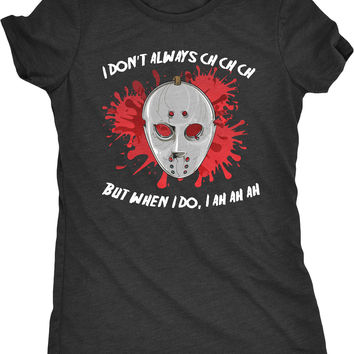 Friday the 13th Ch Ch Ah Ah Halloween Womens Fitted Tri-Blend T-Shirt