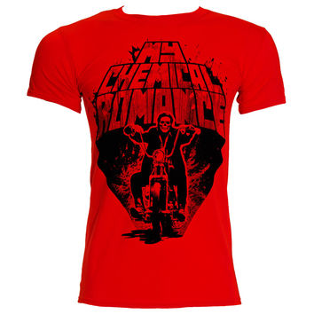 MY CHEMICAL ROMANCE RIDIN' OUT T SHIRT (RED)