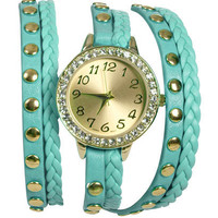 Braided Rhinestone Wrap Watch | Shop Accessories at Wet Seal
