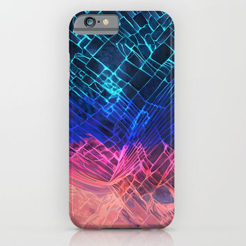 Rainbow neon light Cracked out Glass pattern iPhone, ipod, ipad, pillow case and tshirt iPhone & iPod Case by Three Second