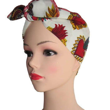 Sacred Heart Fabric Head Wrap Scarf