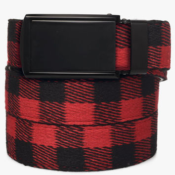 Buffalo Check Canvas Belts