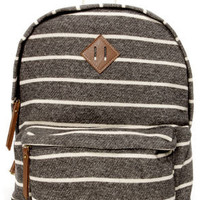 Madden Girl Bskool Charcoal Grey Striped Backpack