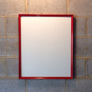 Vintage Framed Whiteboard - Dry Erase Board, Red, Retro, Wedding, Beach Decor, Engagement, Classroom, School, College