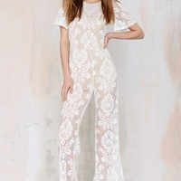One and Only Lace Jumpsuit