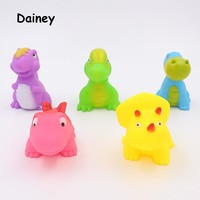 1PC Bath Toy in the Bathroom Baby Toy for Children Water Spray Animals Soft Rubber Toys Dinosaur for Boys Girls MYT07