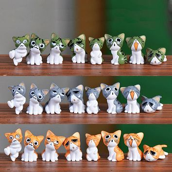 8pc Cats Miniature Animal Garden Decor Fairy Home Houses Decoration Crafts DIY Accessories