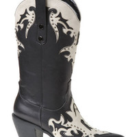 Love My Cowgirl Boots - Black/White