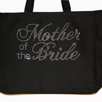 Mother of the Bride Tote  Bag with Rhinestones for Wedding Gift Mother of the Bride hp7