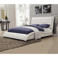 Wildon Home ® Timmothy Queen Upholstered Bed - Color: White