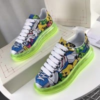 Alexander Mcqueen Graffiti Oversized Sneakers With Air Cushion Sole Reference #21 - Best Online Sale
