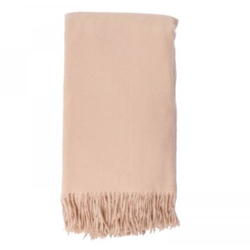 Cashmere Throw in Apricot by Alashan