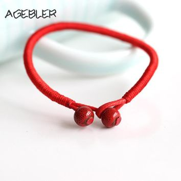 Lucky Red String Bead Bracelets