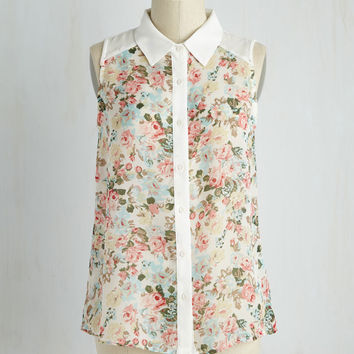Sun and Spritzers Top | Mod Retro Vintage Short Sleeve Shirts | ModCloth.com