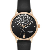Kate Spade Champagne At Midnight Metro Watch Black ONE