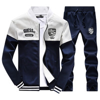 Men's Sweat Suit Tracksuit Set Jogger Sporting Hip Hop Sweater And Pants