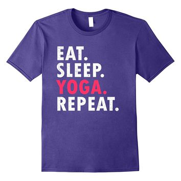 Eat Sleep Yoga Repeat Spiritual Exercise Meditation T Shirt