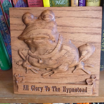 Futurama Hypnotoad carving / engraving